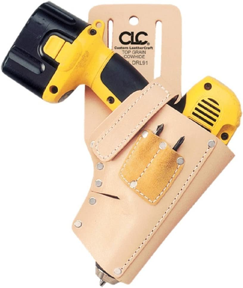 Drill Holster Parts Cordless Belt Holder Pouch Heavy Duty Bag Leather LT