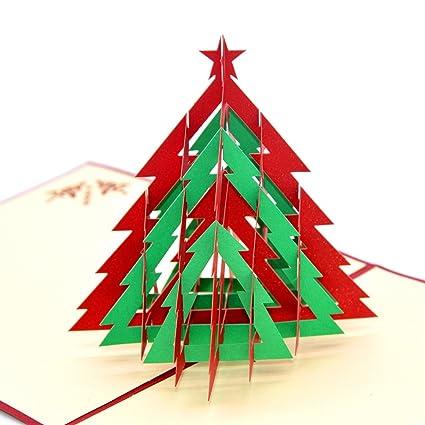 Buon Natale 3d.Medigy 3d Pop Up Buon Natale Cartoline Di Auguri Di Natale In Bianco