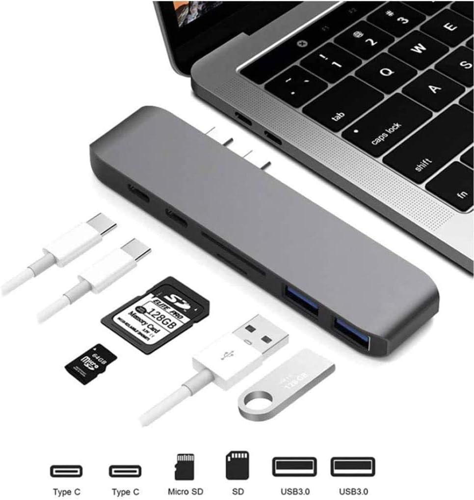 HyperDrive USB C Hub Adapter MacBook Pro Micro SD Card Reader 100W USB C Power Data Transmission Charging Device