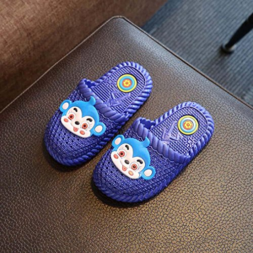 IGEMY Kinder Hausschuhe Kinder Jungen Mädchen Cartoon Affe Feste beiläufige Sandalen Blau