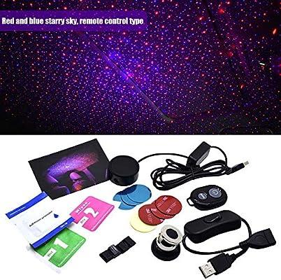 whenear Romantic Auto Techo Estrella Proyector Luces Coche USB ...