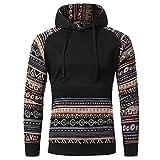 Srogem Men Mens Hoodies Retro Vintage Long Sleeves Sweatshirt Tops Outwear Pullover