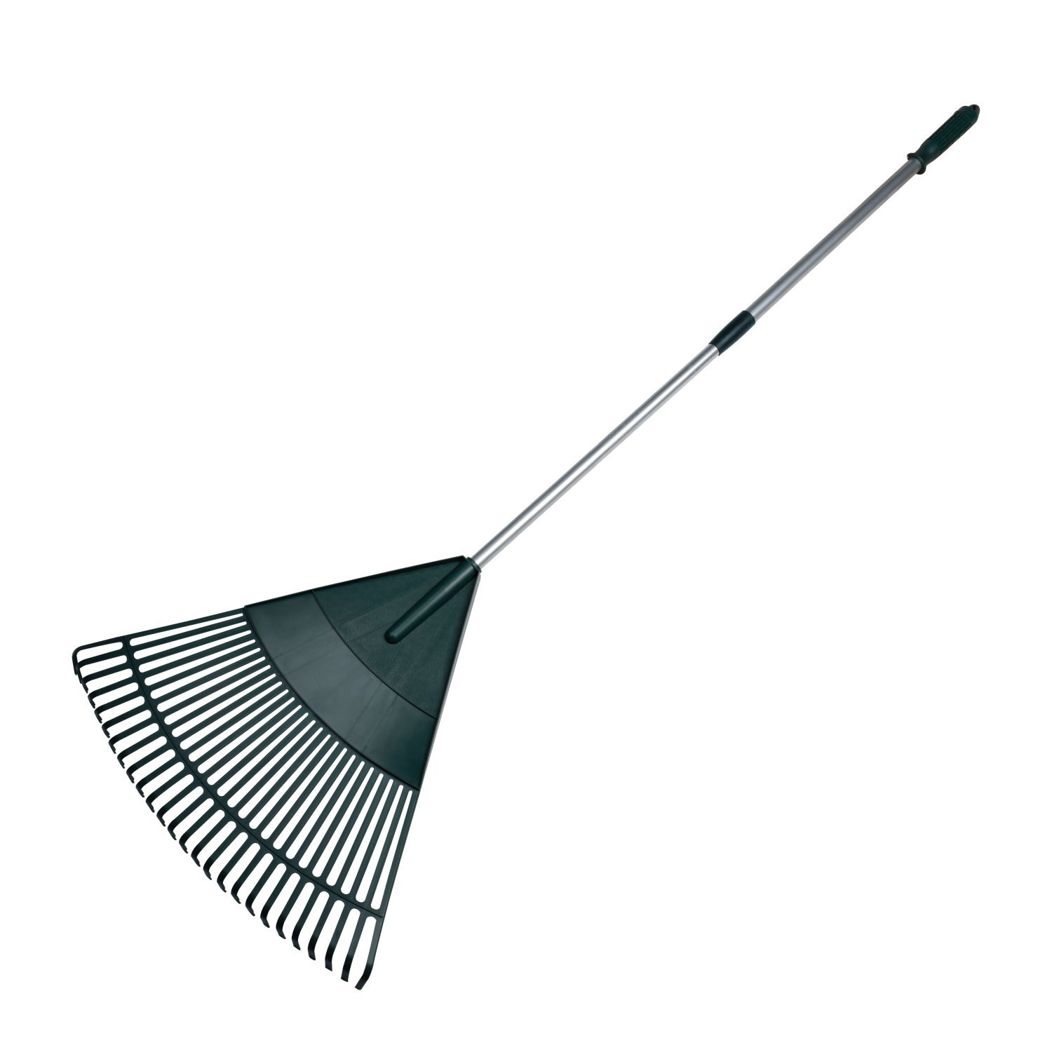 ORIENTOOLS Garden Leaf Rake, Adjustable Lightweight Steel Handle, Comfortable Grip Handle, Plastic Head,Poly Shrub Rake,26 Tines,43 to 66 inches