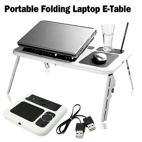 Superieur SAFETYON Laptop Lap Desk Foldable Table E Table Bed With USB Cooling Fans  Laptop Lap