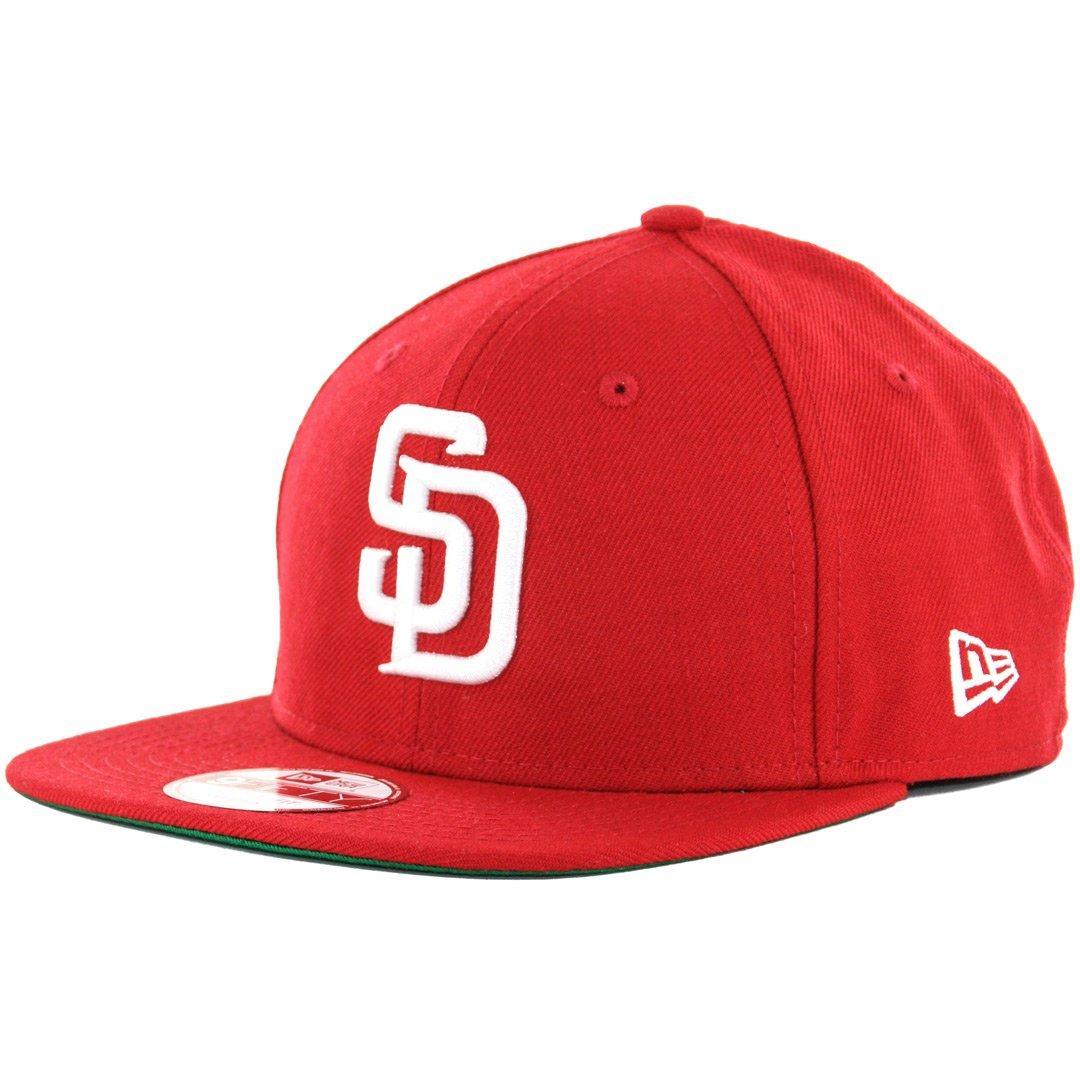 b62dbc63394 Amazon.com   New Era 9Fifty San Diego Padres Snapback Hat (Red White) Men s  Custom Wool Cap   Sports   Outdoors