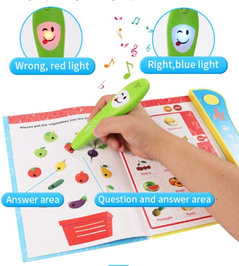 HOTLISTA Kids English Letter Numbers Learning With Smart Logic Voice Book Educational T Casual Daypacks