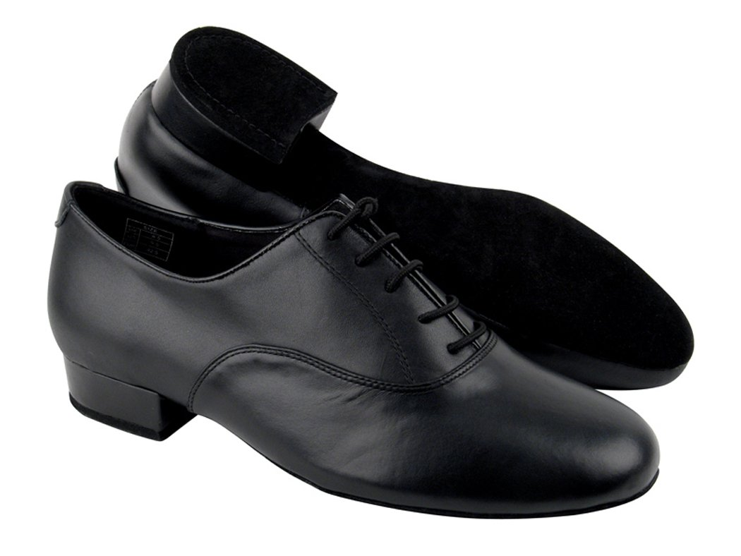 Very Fine Shoes Men's Standard & Smooth Competitive Dancer Series CD1420 Black Leather with 1'' heel (8.5)