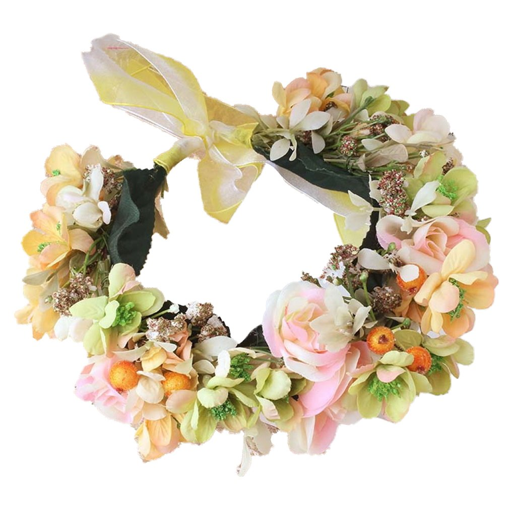 YAZILIND boda de flores de novia corona guirnalda de flores de la playa de guirnaldas de Dama de honor tocado de la foto YAZILIND JEWELRY LTD 1702T0176