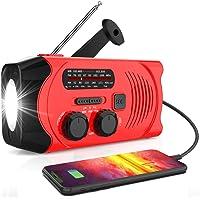$37 » 【2021 Newest Version】RegeMoudal Emergency Solar Hand Crank Radio, NOAA Weather Radio…