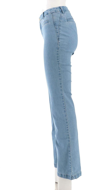 Iman 360 Denim Trouser Jean Chambray 6 Avg New 617-342