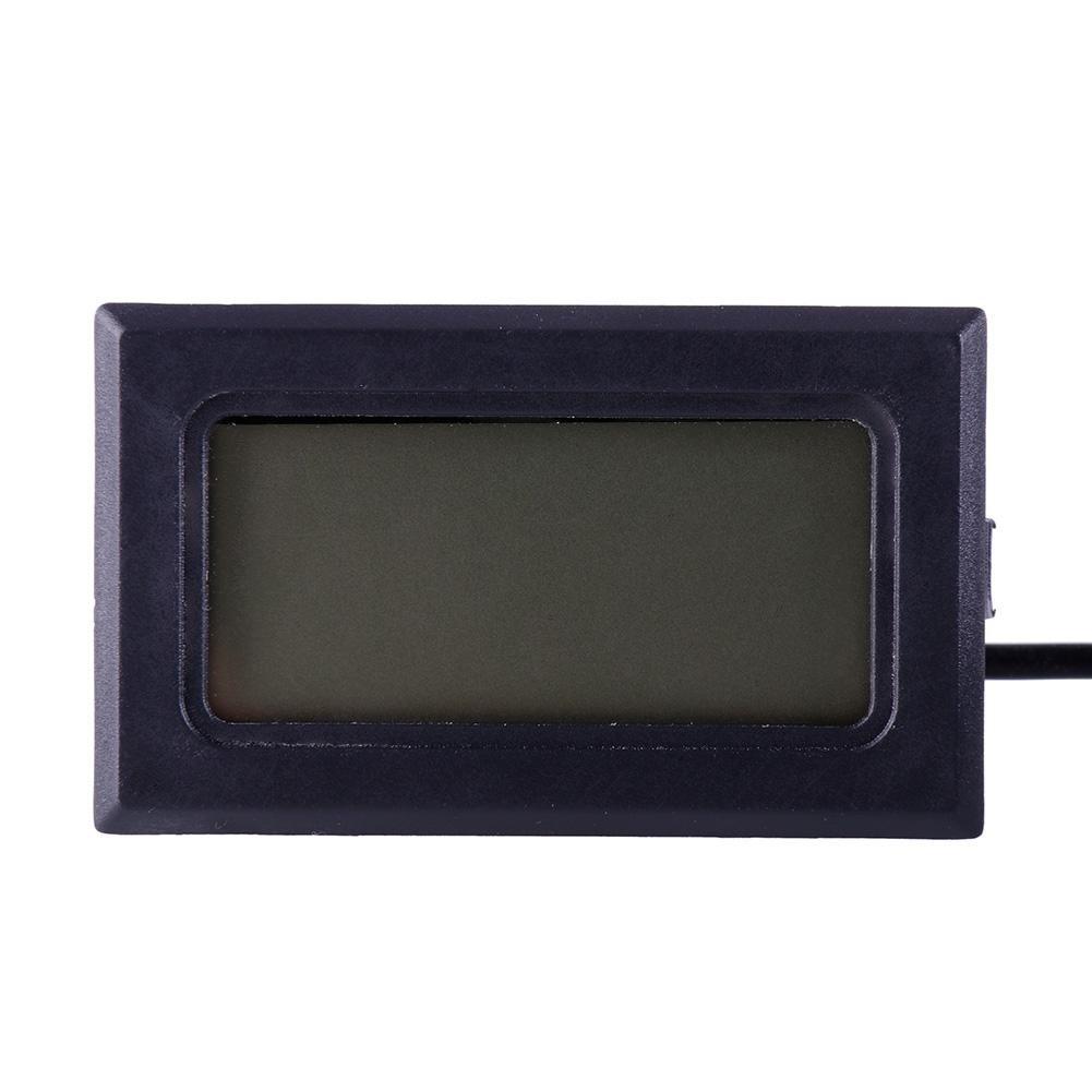 ZHUOTOP Digital Electronic Thermometer Instruments Temperature Sensor Pyrometer Water Temperature Meter Black