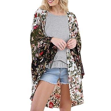 original à chaud super qualité coupe classique Kimono Femme, Kimono Fleurs Champêtre Manteau Dames Cape ...