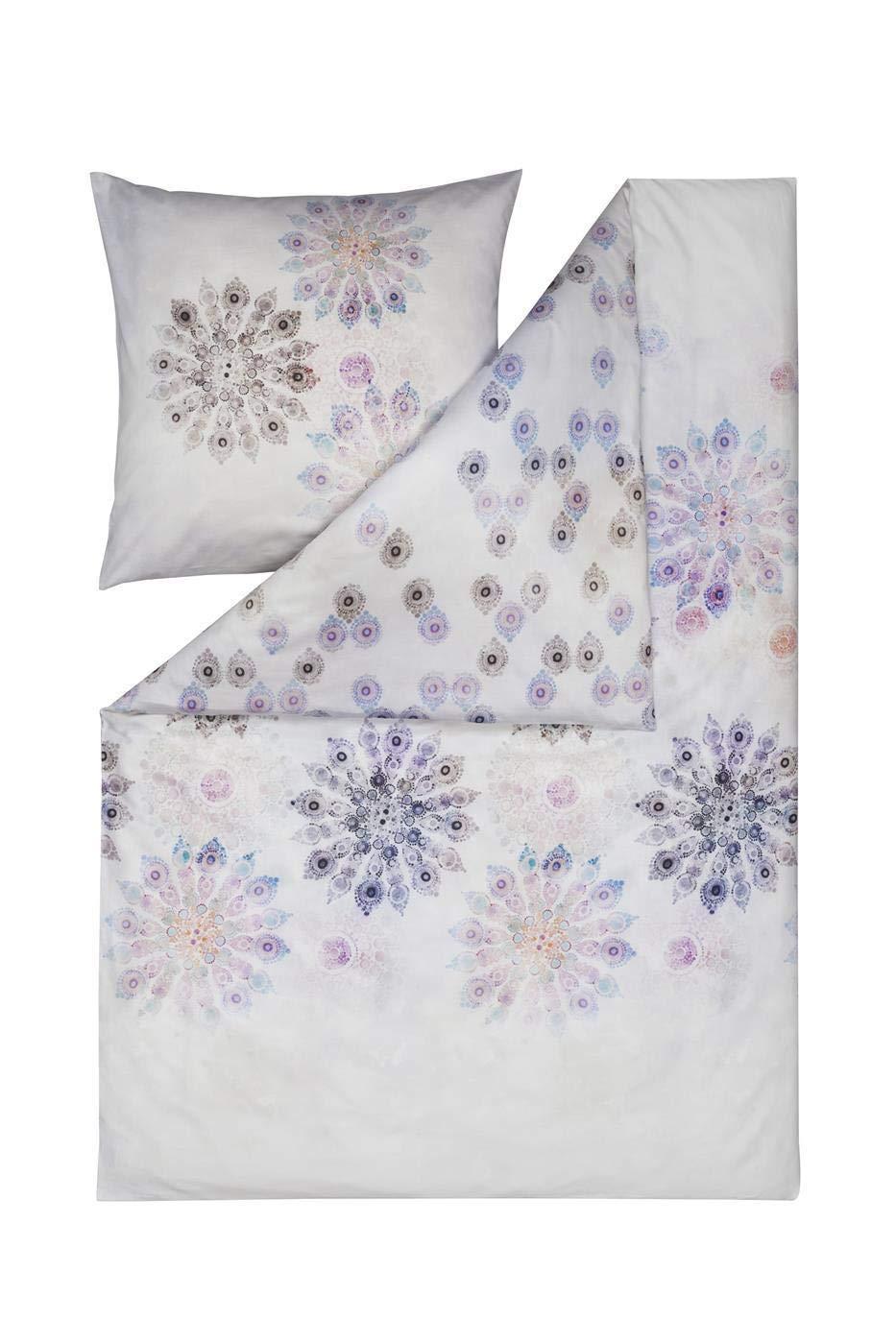 Estella Mako Satin Bettwäsche 4 teilig Bettbezug 135 x 200 cm Kopfkissenbezug 80 x 80 cm Cadiz 4721001-985 Multicolor