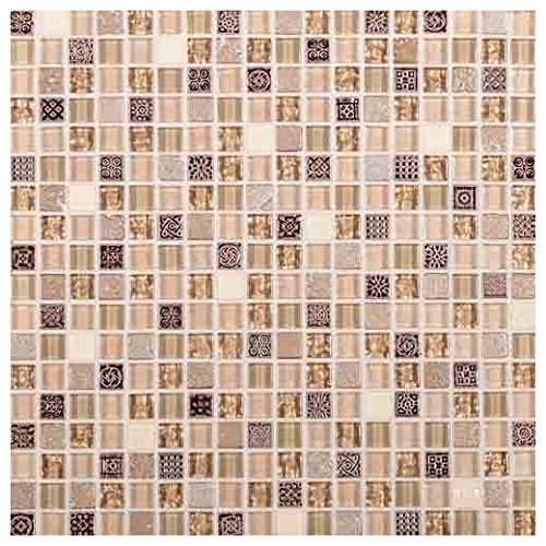 Marvel Stone and Glass Mosaic Tile Tile Gemstone MV29
