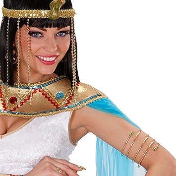 NET TOYS Pulsera en Forma de Serpiente de Cleopatra Oro Egipto Joyas de la Reina Antigua Diosa Oriental: Amazon.es: Juguetes y juegos