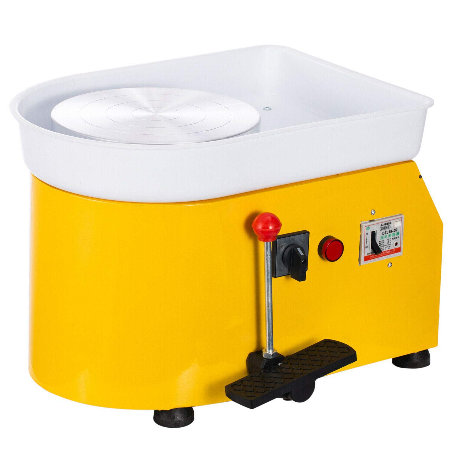 Lfhelper Electric Pottery Making Wheel Machine DIY Tools Clay Handiwork Equipment Yellow