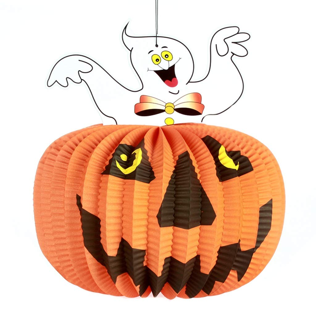 LCMJ WS Halloween Decoration Indoor and Outdoor Pumpkin Lanterns can be Hung Stereo Decoration 5 Packs (Color : B)