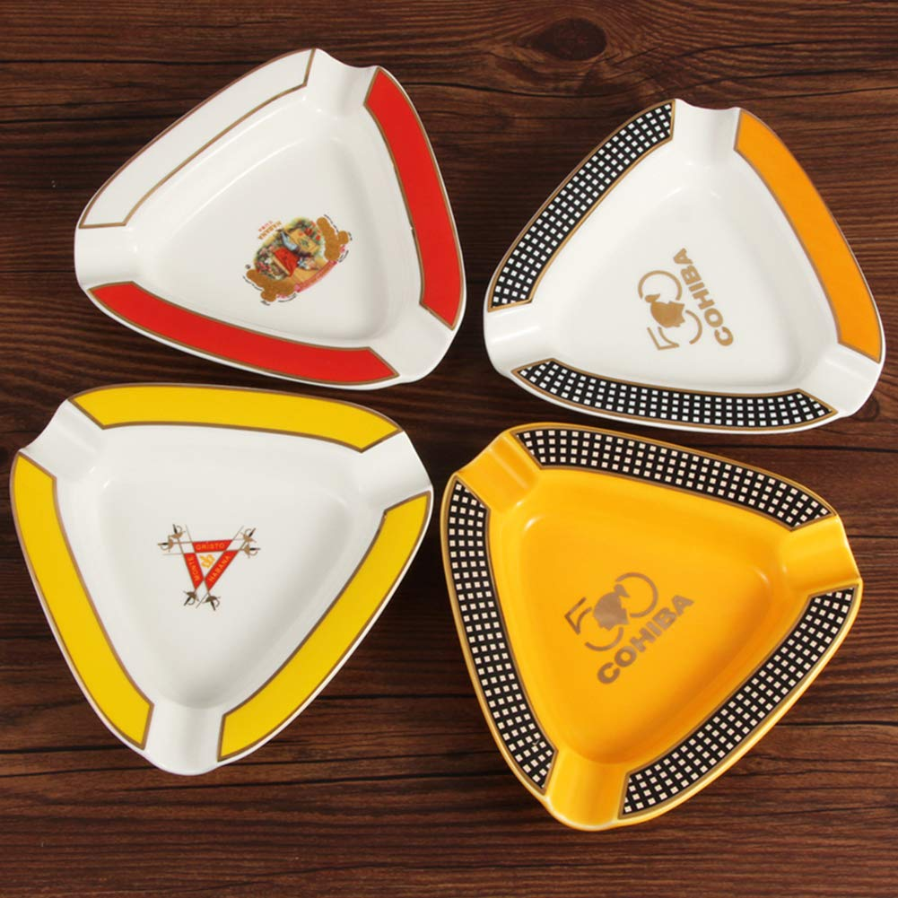Damoking Posacenere da Sigaro in Ceramica Portatile posacenere da Sigaro in Ceramica Classico per Esterno o Interno 1