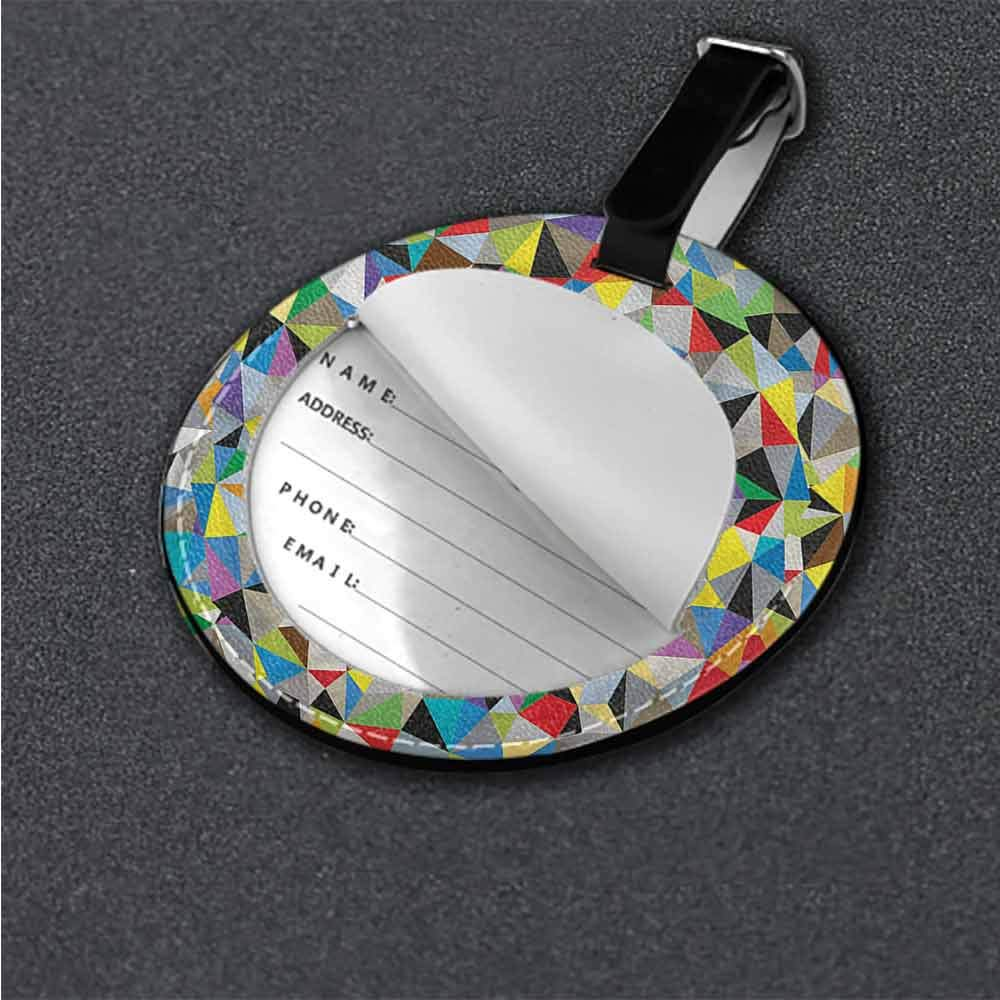 Boarding Tags Abstract,Geometric Spirals Lines Suitcase Labels Bag