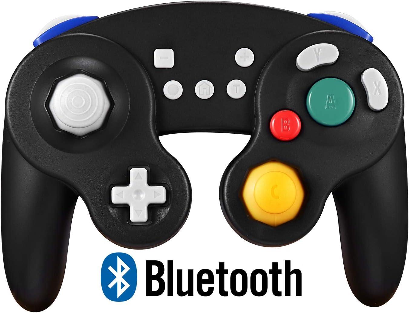 Exlene Wireless Controller Gamepad para Nintendo Switch, Recargable, Compatible con PC / PS3, GameCube Estilo, Motion Controls, Rumble, Turbo (Negro): Amazon.es: Videojuegos
