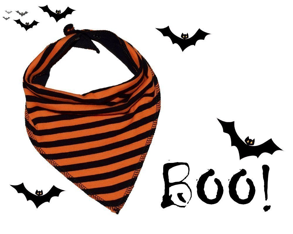 Halloween Baby Reversible Bandana Bib, Baby Halloween Outfit, Orange and Black Drool Bib Bandana, Halloween Baby Accessories, Handmade Bib, Coming home outfit, Baby Accessories, Baby Shower Gift