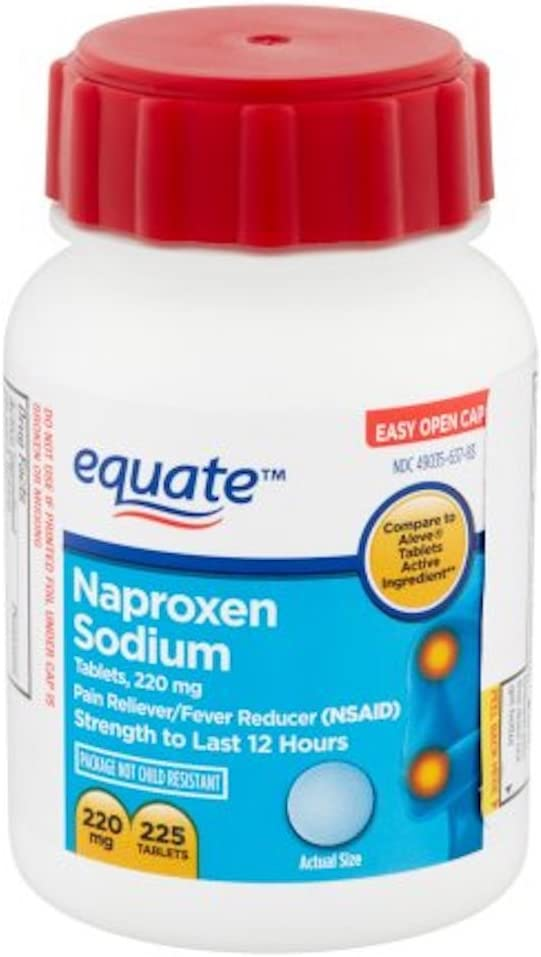 Naproxen Sodium Caplets 220mg 225ct, by Equate, Compare to Aleve: Health & Personal Care
