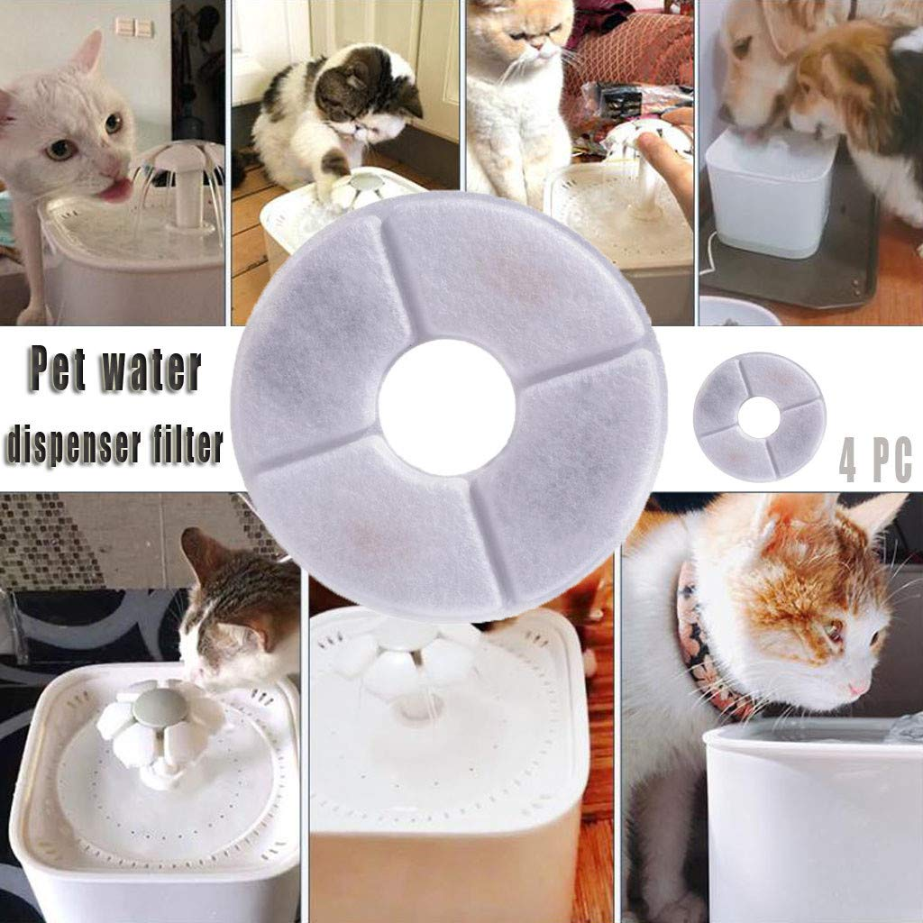 5 XBKPLO Filters for Senses Fountains and Cat /& Dog Automatic Flower Water Dispensers Pet Fountains