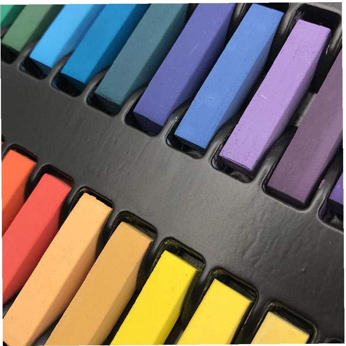FEDSJUIHYG 36 Farben Masters Haarf/ärbung Pastelle Kreide Sets Haar-Kreide-Pastelle DIY Temporary Coloring Kreidung Dye Trend Hair Coloring Pastels