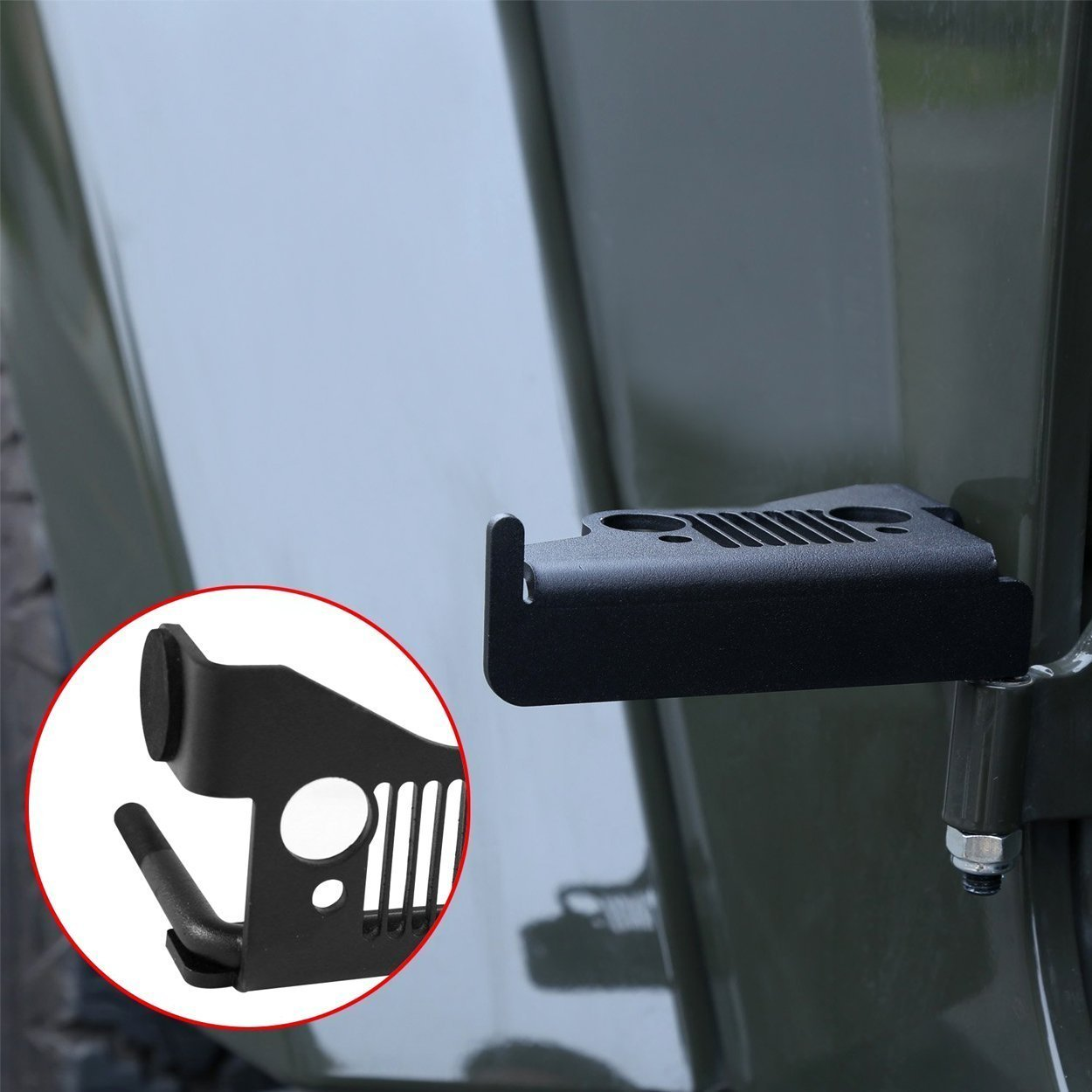 DIYTUNINGS Foot Rest Pedal Front Grille Pegs Panel Jeep Wrangler 07-17 JK&JKU - Pair