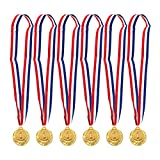 chili cookoff medals - Juvale 6-Pack Gold Medal Set - Olympic Style Winner Award Medals for Sports, Competitions, Spelling Bees, Party Favors, 2 Inches in Diameter with 31-Inch Ribbon