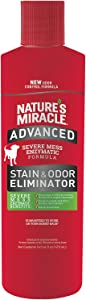 Nature's Miracle Advanced Stain and Odor Eliminator Dog, For Severe Dog Messes, 16 Oz, Updated Formula