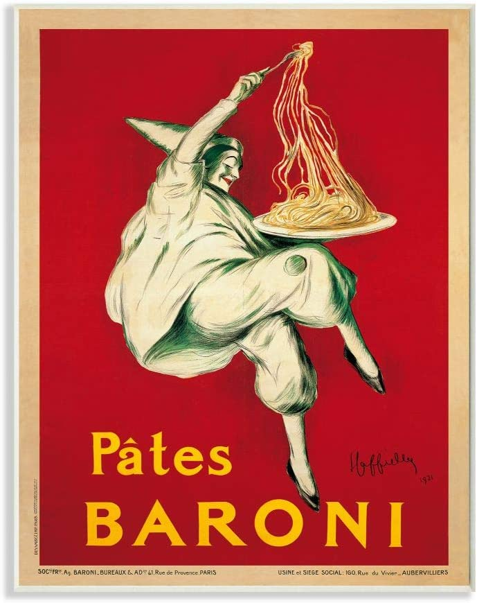 Stupell Industries Pates Baroni Vintage Poster Food, Design by Marcello Dudovich Art, 13 x 19, Wall Plaque
