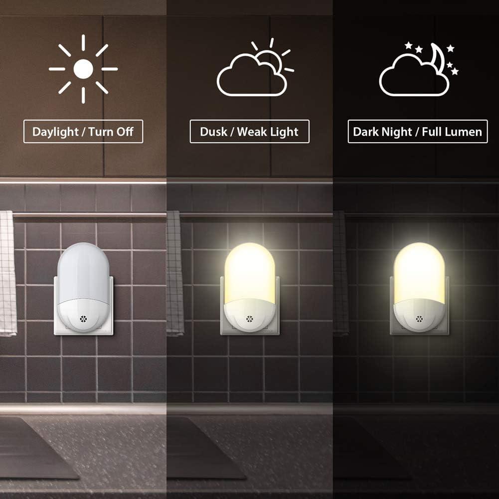 A++ LED Nachtlicht Baby mit D/ämmerungssensor Kinder Licht steckdosenlampe Automatisch ON//OFF Stromsparendes f/ür Schlafzimmer,Kinderzimmer,Badezimmer,Gang usw,Warmes Wei/ß Nachtlicht Steckdose