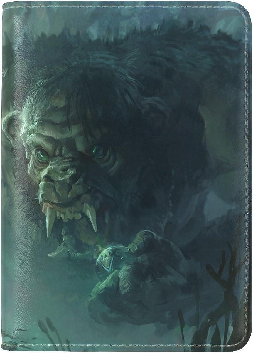 Forest Man Art Leather Passport Holder Cover Case Travel One Pocket