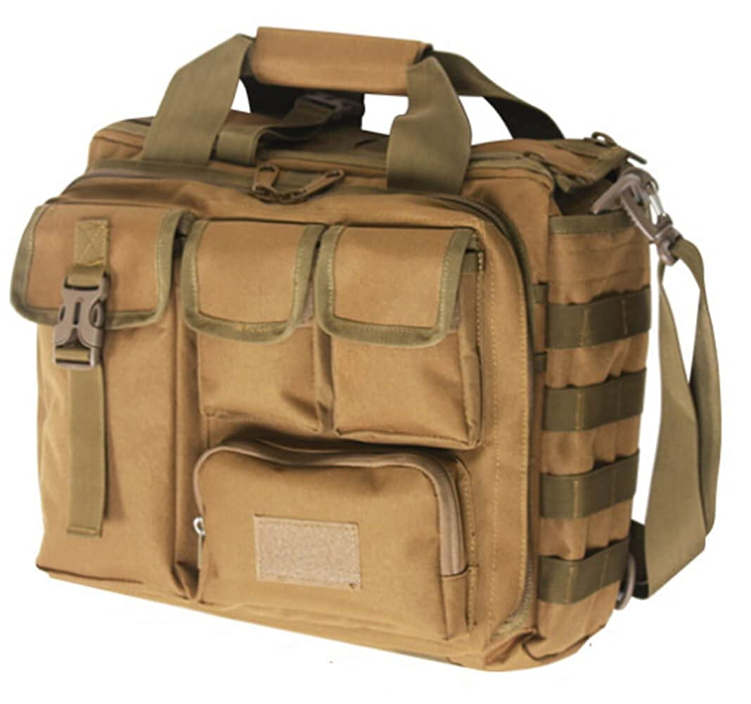 Brown Business Survival Messenger Bag Military Bag Camping Travel Cross Bag Various storage space