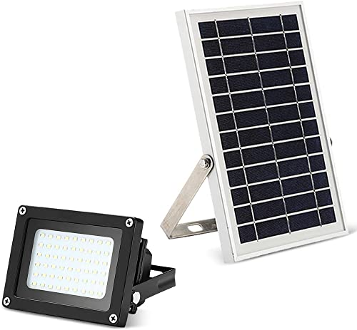 MYM Solar Powered Flood Lights Outdoor Auto on Off 6W 400 LM White Light Waterproof Solar LED Floodlight for Garden Light