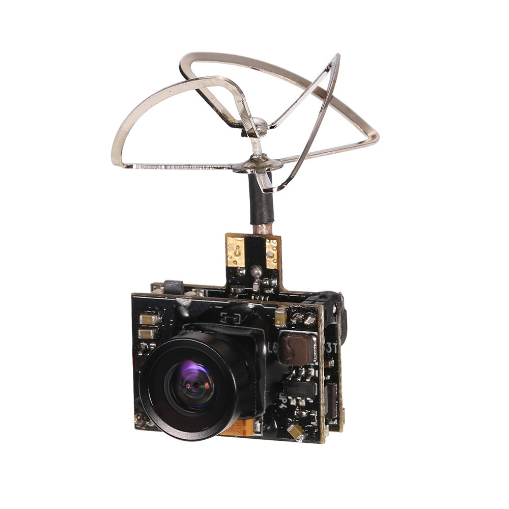 GoolRC 800TV FPV Camera 5.8G 40CH 25/100/200mW Transmitter Clover Antenna for Inductrix QX90 H36 T36 NH-010 Micro Racing Drone