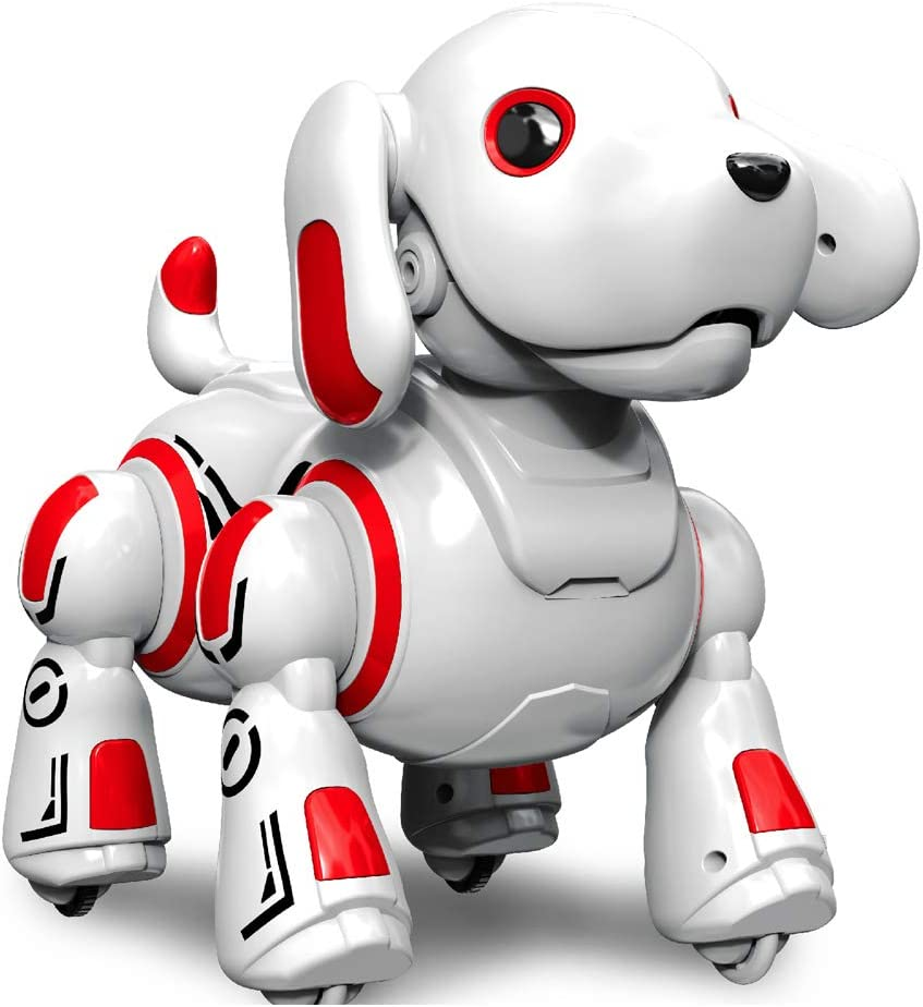 Hi-Tech Wireless Remote Controlled Robot Dog Interactive Robot Puppy for Kids, Children, Girls, Boys (Red)