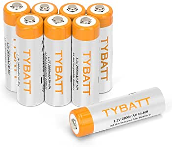 8 Piezas AA 2800mAh Pilas Recargables de Alta Capacidad Ni-MH 1200 Ciclo de Bateria para los Equipos Domésticos con Estuches de Almacenamiento: Amazon.es: Bricolaje y herramientas