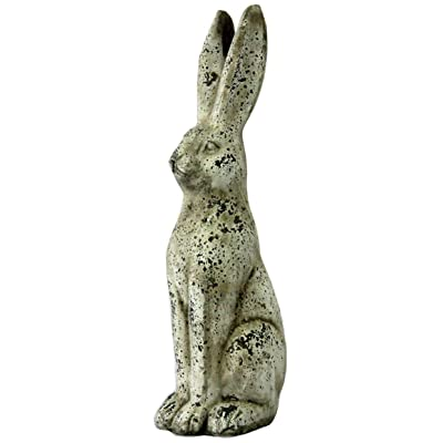 Michael Carr Designs 7293MA344 Jack Rabbit Antique White, Medium: Garden & Outdoor