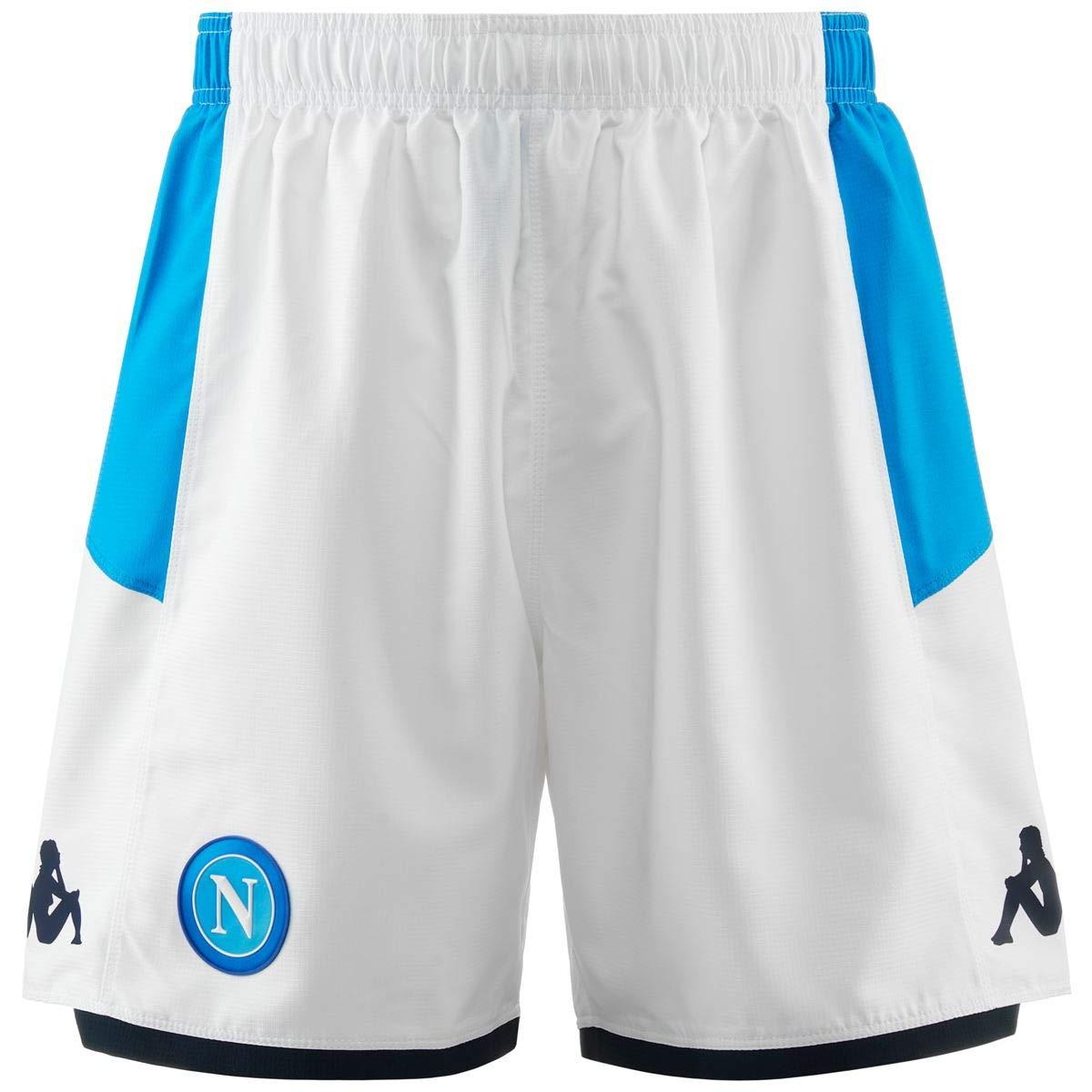 Bianco SSC Napoli S Pantaloncino Gara Home 2019//2020 Uomo