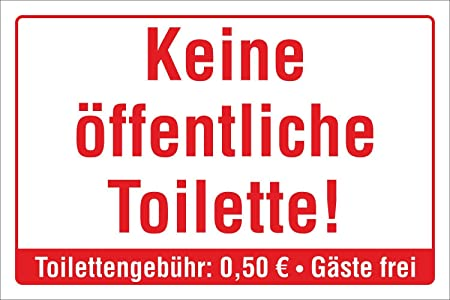 Schild Öffentliche Toilette Klo WC Hinweisschild 3 mm Alu-Verbund