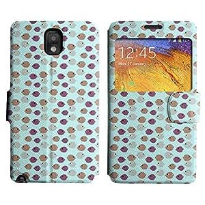 Be-Star Diseño Impreso Colorido Slim Casa Carcasa Funda Case PU Cuero - Stand Function para Samsung Galaxy Note 3 III / N9000 / N9005 ( Many Fishes )