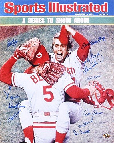 - 1975 Cincinnati Reds Signed 16x20 Photo - 12 Total Signatures! - George Foster, Don Gullett, Pedro Borbon, etc.