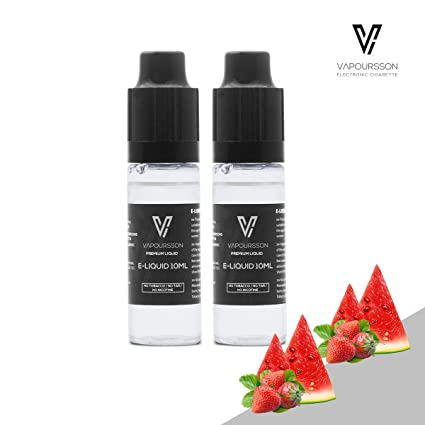 VAPOURSSON 2 X 10ml E Líquido| Fresa + Sandía| 2 botellas - Nueva Fórmula