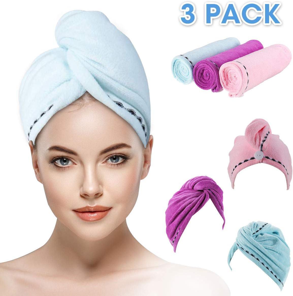 Microfiber Long Hair Drying Wrap Towel Super Absorbent Fiber Fast Dry Towel
