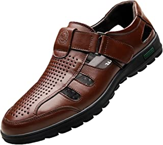 Yying Uomini di Estate Sport all'Aria Aperta a Piedi Sandali Chiudi Toe Design Vuoto Sandal Scarpe da Trekking Dimensioni Traspirante Sandal Velcro Slittata Scarpe Basse