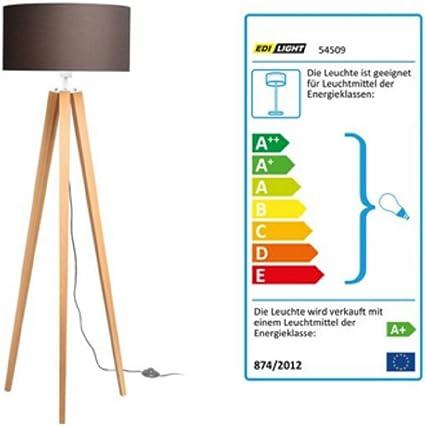 LED Beistellleuchte Stehleuchte Stehlampe Taupe Creme Lampenschirm