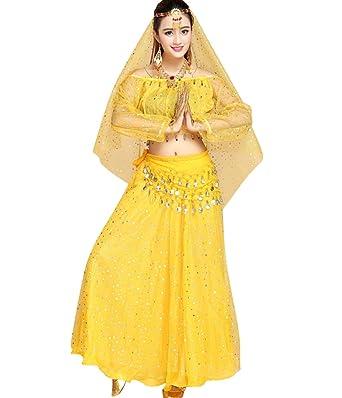 TianBin Mujer Danza del Vientre Indian Dance Conjunto de Traje de ...
