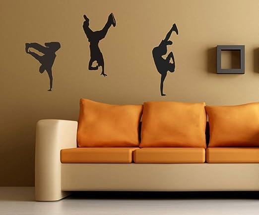 Tatuajes de pared Breakdancers bailarín extraíble pegatinas bboy ...
